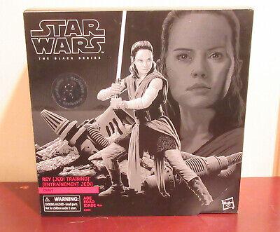 "Hasbro Star Wars Black Series 6"" Rey (Jedi Training) Crait Exclusive Figure NIB"