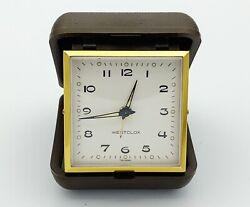 Vintage WESTCLOX Windup Folding Travel Alarm Clock NEW with Box & Instructions