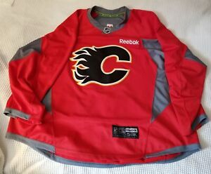 Calgary Flames authentic practice jersey size 58