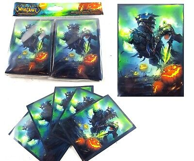 (HEADLESS HORSEMAN Card Sleeves Deck Protectors for WoW Pokemon mtg 80 ct)