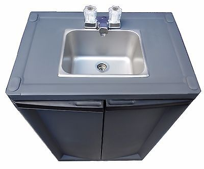Portable Sink Hand Wash Sink Self Contained Sink Cold Water Ss Dark Gray