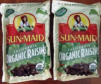 Sun Maid California Raisins (2 Bags Sun Maid Organic California Raisins (2 lb each, Total 4)