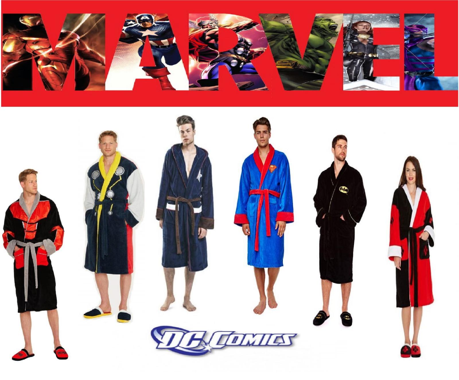 Bathrobe Marvel DC Disney Fleece Dressing Robe Selection Nig