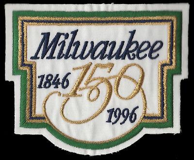 Alte Baseball-jersey (1996 MILWAUKEE BREWERS 150TH YEAR CITY ANNIVERSARY MLB BASEBALL ALT JERSEY PATCH)
