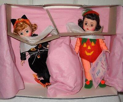 #9893 NIB Vintage Madame Alexander 1993 Trick And Treat Halloween Set Exclusive