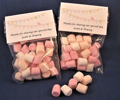 Mini Marshmallow - Personalised Wedding Favours