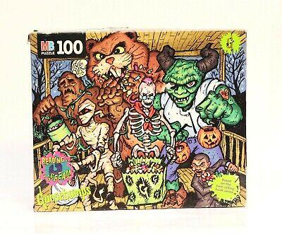 Rare GOOSEBUMPS 100 Pc Jigsaw Puzzle - Halloween Trick or Treat MILTON BRADLEY