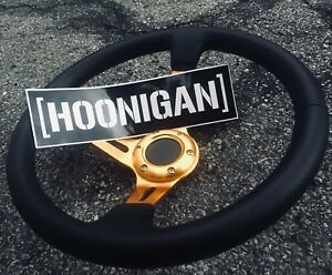 BRAND NEW Race/drift steering wheel + FREE HOONIGAN STICKER