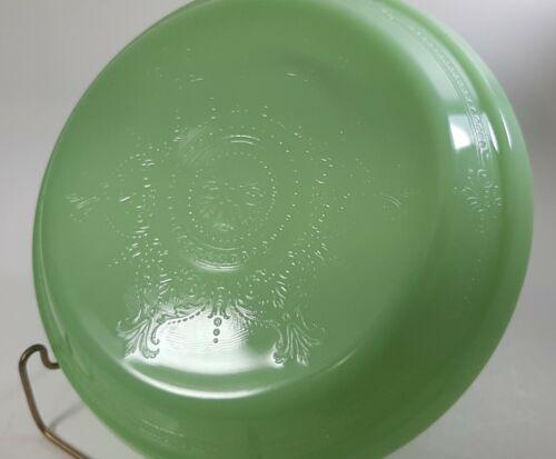 Rare Vintage Fire King 10 3/8 inch Philbe Jadeite Juice Saver Deep Pie Pan Plate