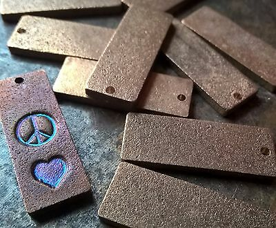 "20pc, Metal Stamping Blanks, 1"" Bronze Rectangles, MADE IN USA"