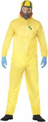 NEW Breaking Bad Yellow Chemical Lab Hazmat Suit Halloween Fancy Dress - Breaking Bad Hazmat Suit Halloween