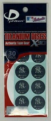 MLB New York Yankees Phiten Titanium Discs X30