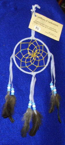 "Native American Dreamcatcher Navajo Indian  4"" dia hoop Lavender  #302"