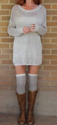 Vince~Boat Neck~Loose Knit~Tunic Sweater~Brown~M~$275 *SOLD OUT ONLINE*