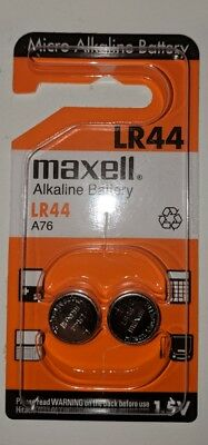 2+2 Maxell LR44 Alkaline Button Battery A76 L1154 AG13 357 SR44 303 1.5V (Maxell Alkaline Button)