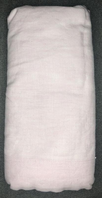 Pottery Barn Kids Belgian Flax Linen Crib Skirt - Pink - NWOT