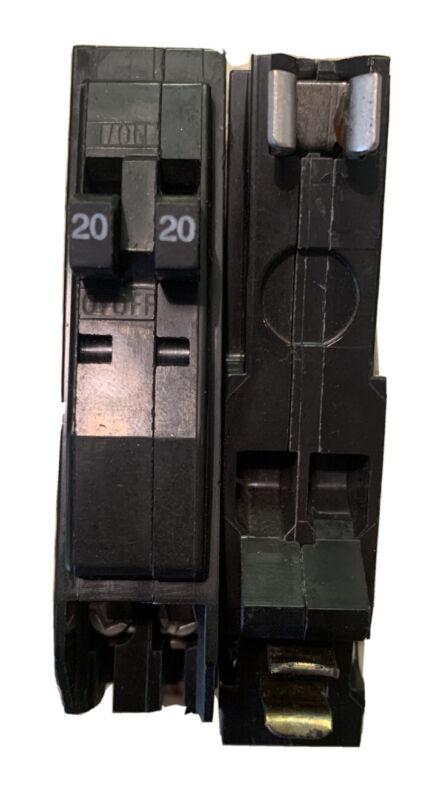 SQUARE D QO2020 20A TWIN CIRCUIT BREAKER (NO HOOK) NEW