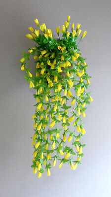 - 2 Artificial Magnolia Flower Buds Vines Hanging Wedding Decoration (Yellow)