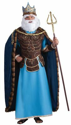 King Neptune Merman Greek Poseidon Costume Adult Mens - Neptune Costume
