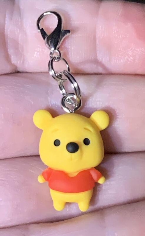 Winnie The Pooh Charm Zipper Pull & Keychain Add On Clip!