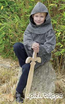 KINDER RITTER KETTENHEMD**ca. Gr. 122 - 128 - - Kinder Kettenhemd Kostüm