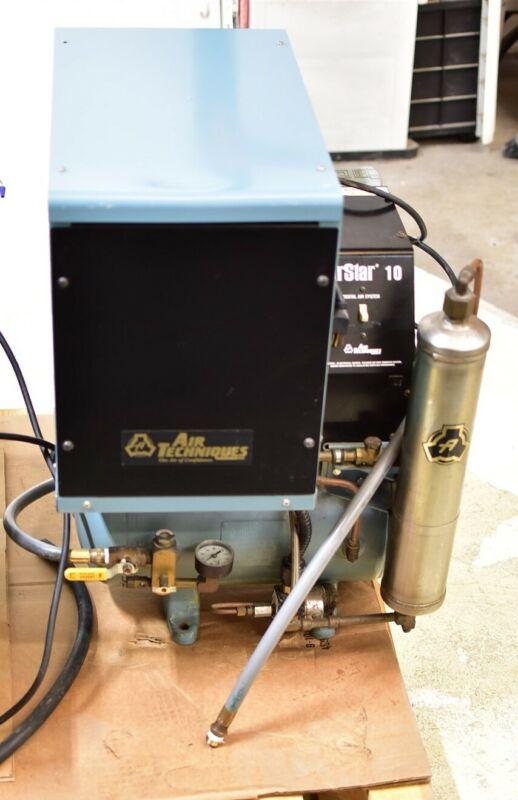 Air Techniques AirStar 10C Single Dental Air Compressor Unit Oil-Free 115V
