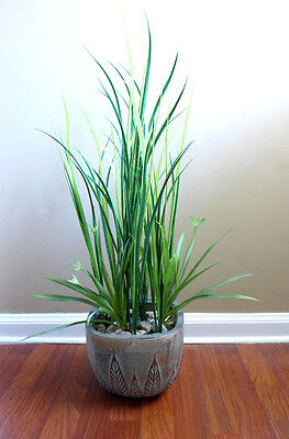 - 2 Orchid Grass and 10 Long Grass Artificial Plastic Plants Flowers Landscep