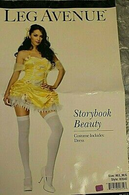 ens Halloween Costume Size M Yellow Dress Cosplay (Storybook Halloween-kostüme)