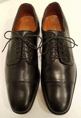 ALLEN EDMONDS Yorktown Like Park Ave Black Leather Men's Oxfords Size 9.5 D MINT Park Avenue Stack