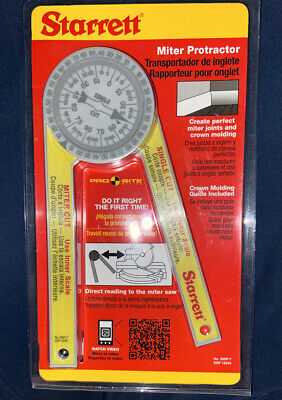Starrett Miter Saw Protractor 505p-7 New Pro Site Series