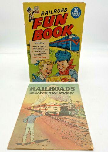 Rare Post's Sugar Crisp Railroad Fun Book Complete Comic Emblems Ad Train 201941