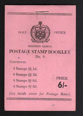 SAMOA 1962 6/- COMPLETE BKT CODE 300/9/64 SB9.