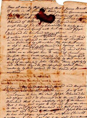 1784, Groton, Mass., James Bennett, land sale, Revolutionary War Minutemen signed