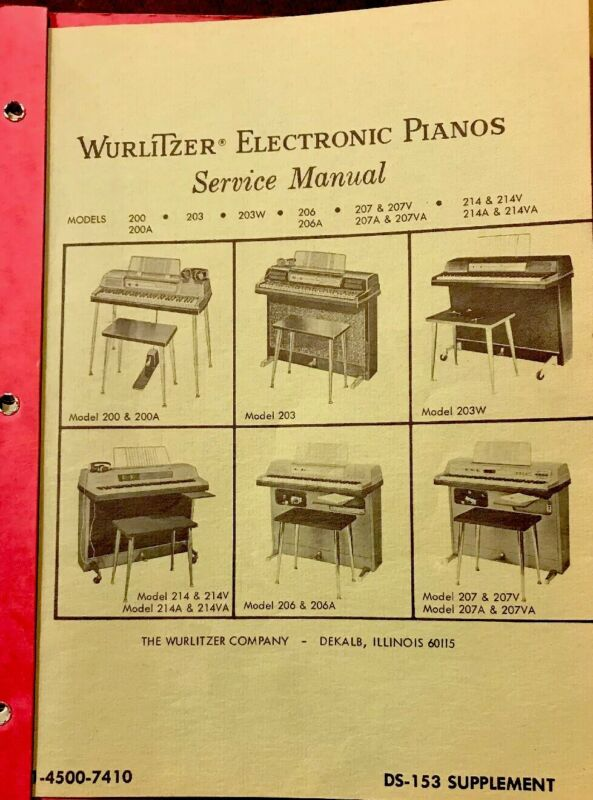 Wirlitzer Electronic Pianos Service Manual