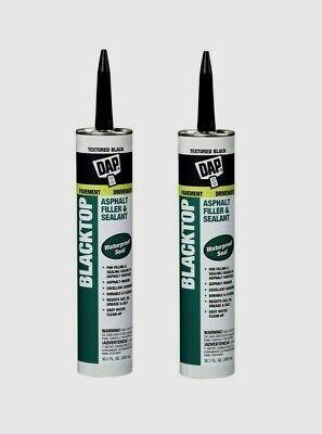 2 Dap Blacktop Synthetic Asphaltrubber Textured Black Sealant 10.1 Oz. 27065