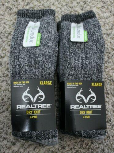 4 Pair New REALTREE Dry Knit Hunting Socks Size XL Men
