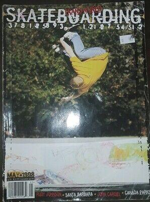 Transworld Skateboard Magazine May 1998 John cardiel Rudy Johnson interviews