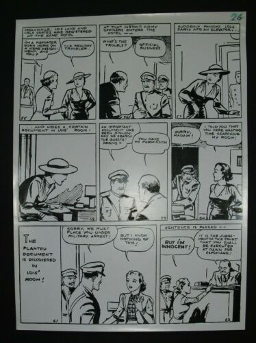 DC Mechanical page w/ inks for FAMOUS FIRST EDITION #61, pg. 26 ALBERT DEGUZMAN