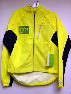 CANNONDALE-Womens-Morphis-CYCLING-Rain-JACKET-windproof-winter-Hi-Vis-Yellow