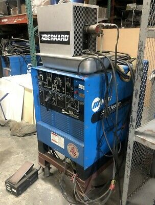 Miller 330st Aircrafter Cc Acdc Arc Weld Power Source Tig Welder Cart Cooler