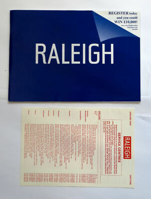 Original Raleigh bike owners guide + service centre list operating instructions