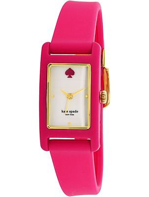 KATE SPADE DUFFY WHITE DIAL PINK SILICONE STRAP LADIES WATCH KSW1278 NEW