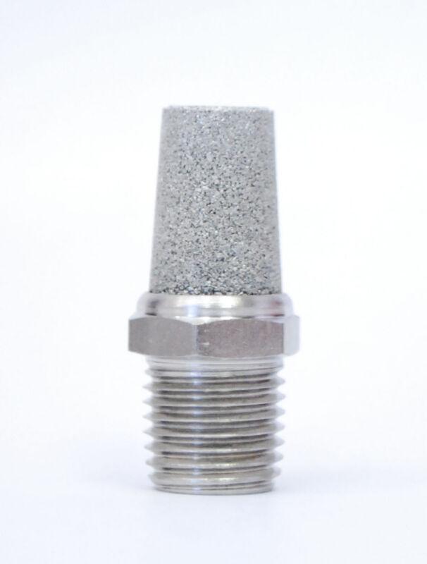 1pc Sintered Stainless Steel PNEUMATIC CONE MUFFLER M5 Exhaust MettleAir SSL-M5
