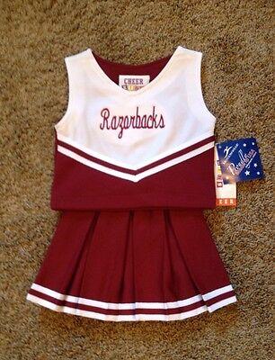 "Size 2T ""Razorbacks"" Cheerleader uniform dress up Halloween Costume NWT !](Size 2t Halloween Costumes)"
