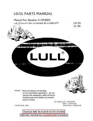 Details about  /LULL JLG 644D D-SERIES TELEHANDLER FORKLIFT ILLUSTRATED PARTS MANUAL BOOK