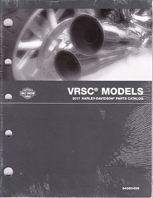 2017 Harley VRSC VRSCDX VRSCF Part Parts Catalog Manual Book 94000409 for sale  Midland