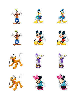 (Mickey Mouse Clubhouse edible cupcake toppers 12/sheet)