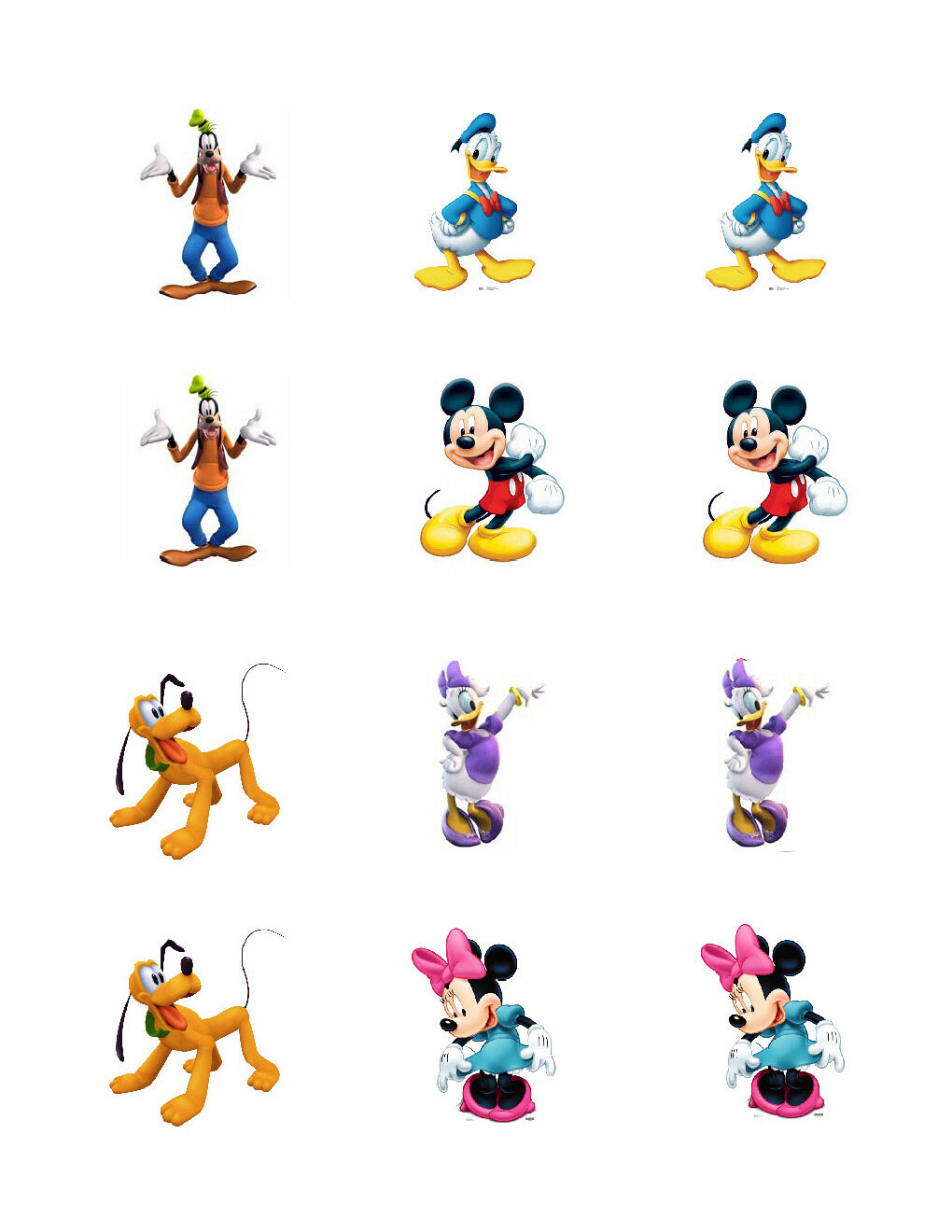 Mickey Mouse Clubhouse edible cupcake toppers | eBay Mickey Mouse Cupcake Toppers Printable