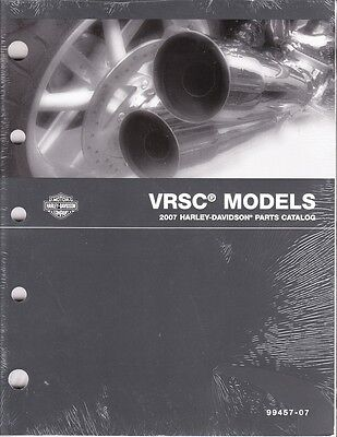 2007 Harley VRSC VRSCDX VRSCF VROD V-ROD Part Parts Catalog Manual Book 99457-07 for sale  Midland