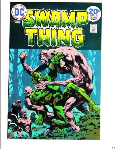 Swamp Thing 10 (1974): FREE to combine- in Fine+  condition